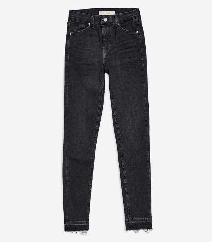 Washed Black Let Hem Jamie Jeans