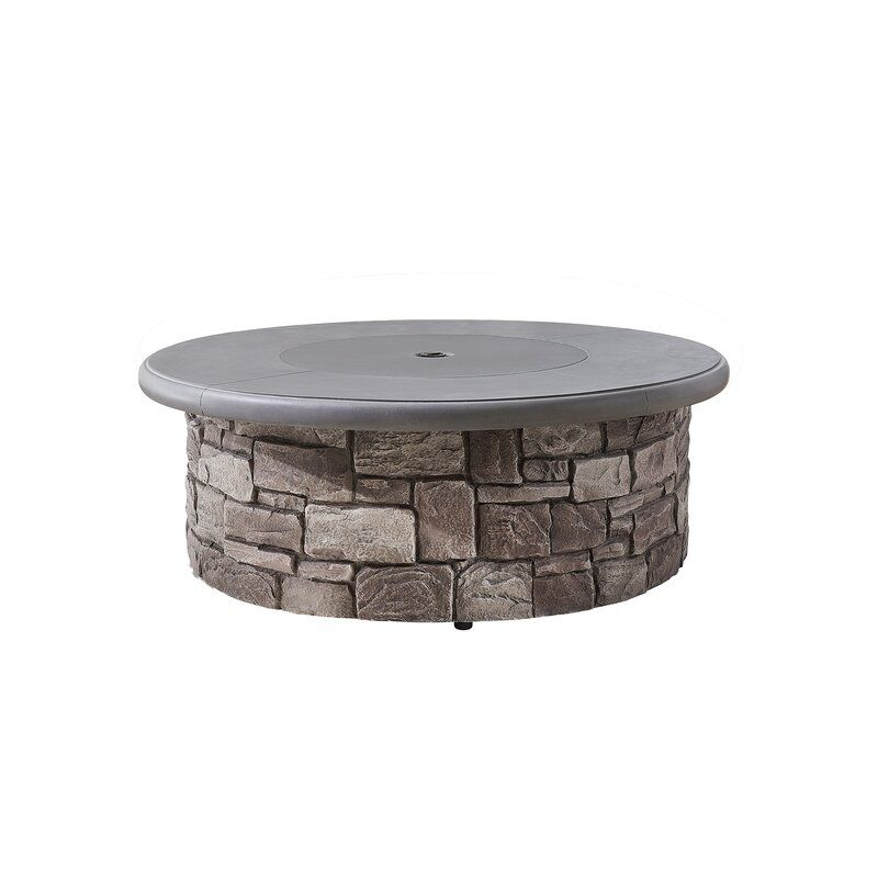 Martha Stewart Skylands Stone Propane Fire Pit