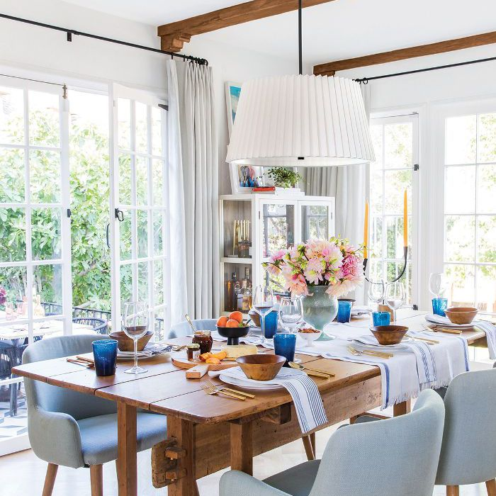 an organized dining room
