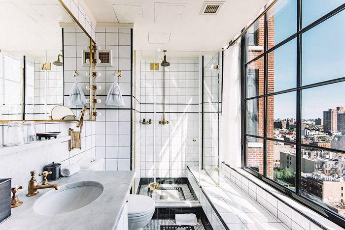 Cuarto de baño de la habitación del hotel Ludlow
