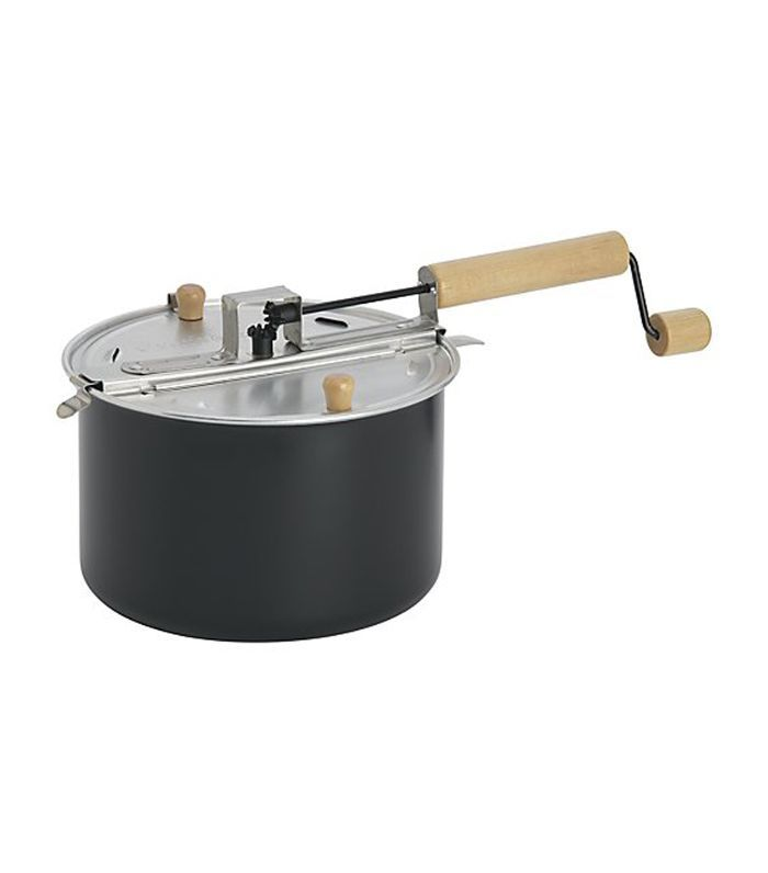 Stovetop Popcorn Popper Black - Crate and Barrel