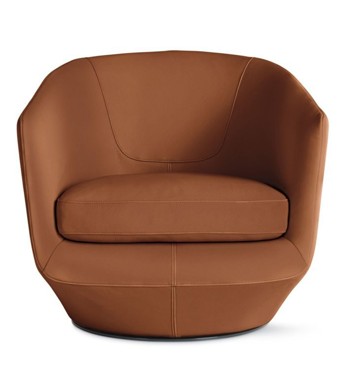 U-Turn Swivel Chair in Kalahari Leather