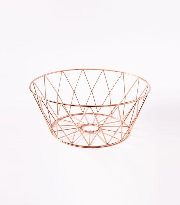 Copper Wire Fruit Bowl