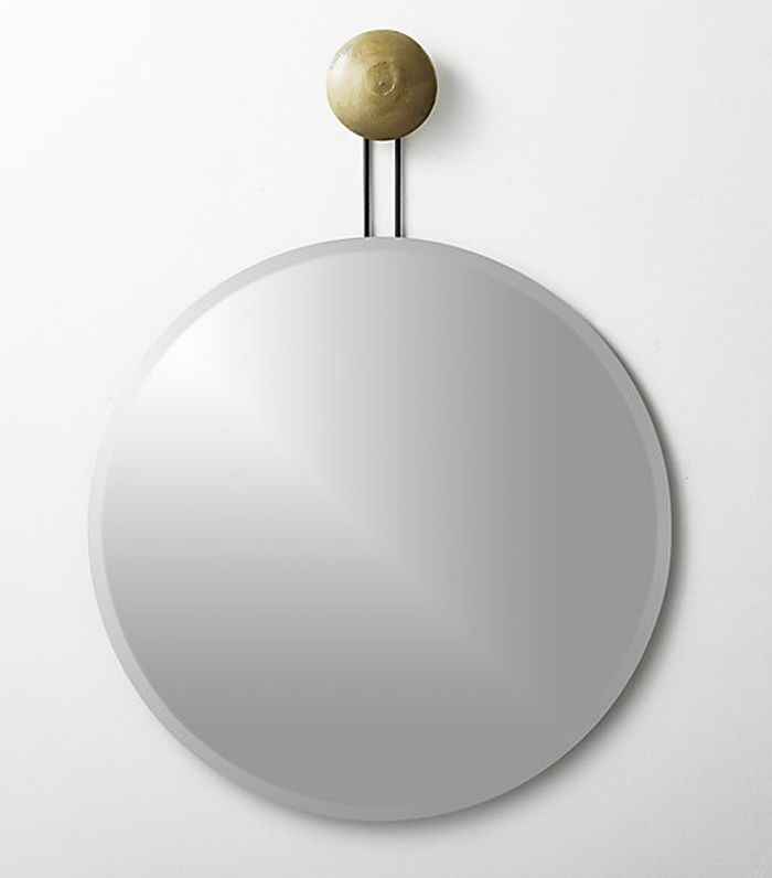 Dot Brass Suspended Mirror 36