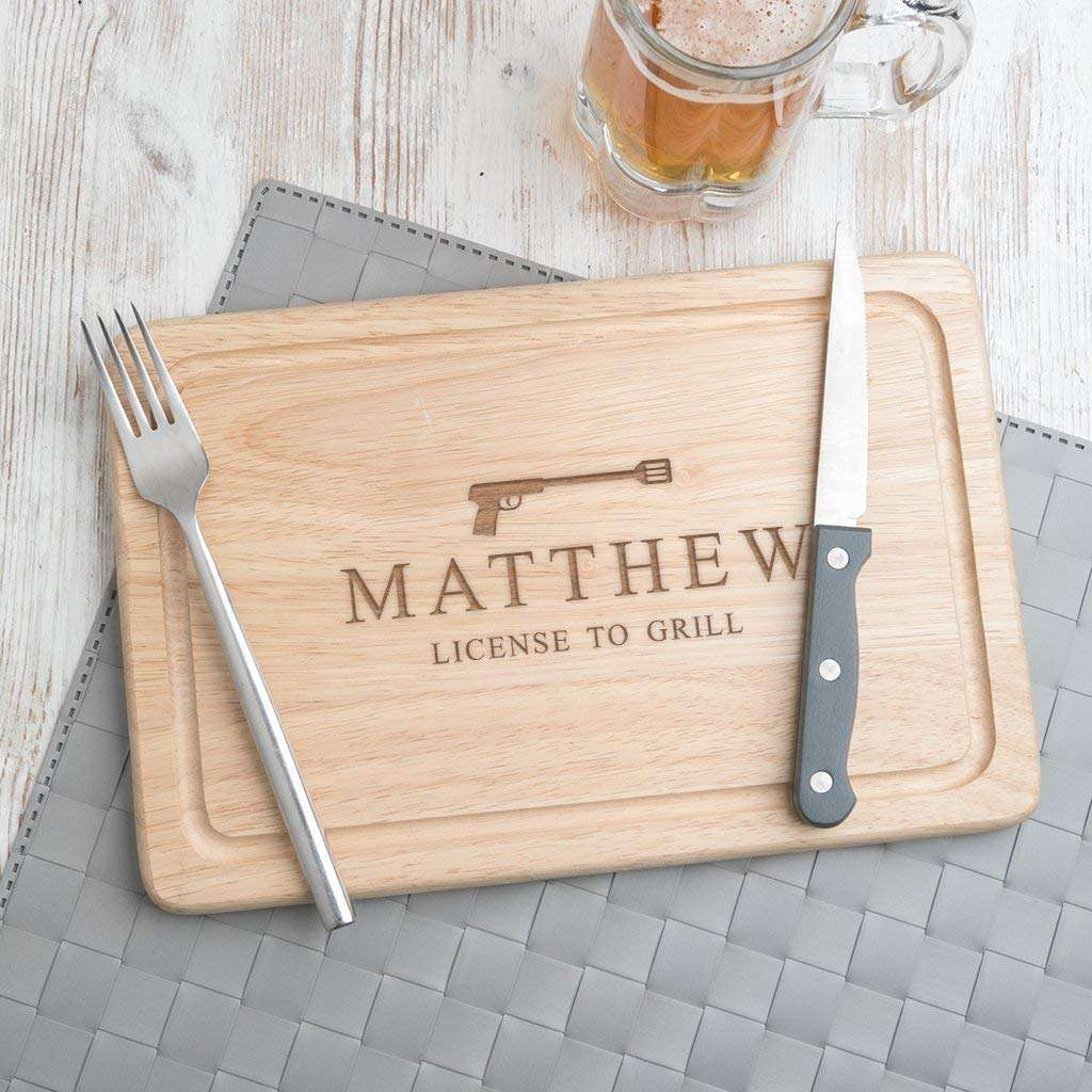 Dust and Things Personalized Wooden Cutting Board