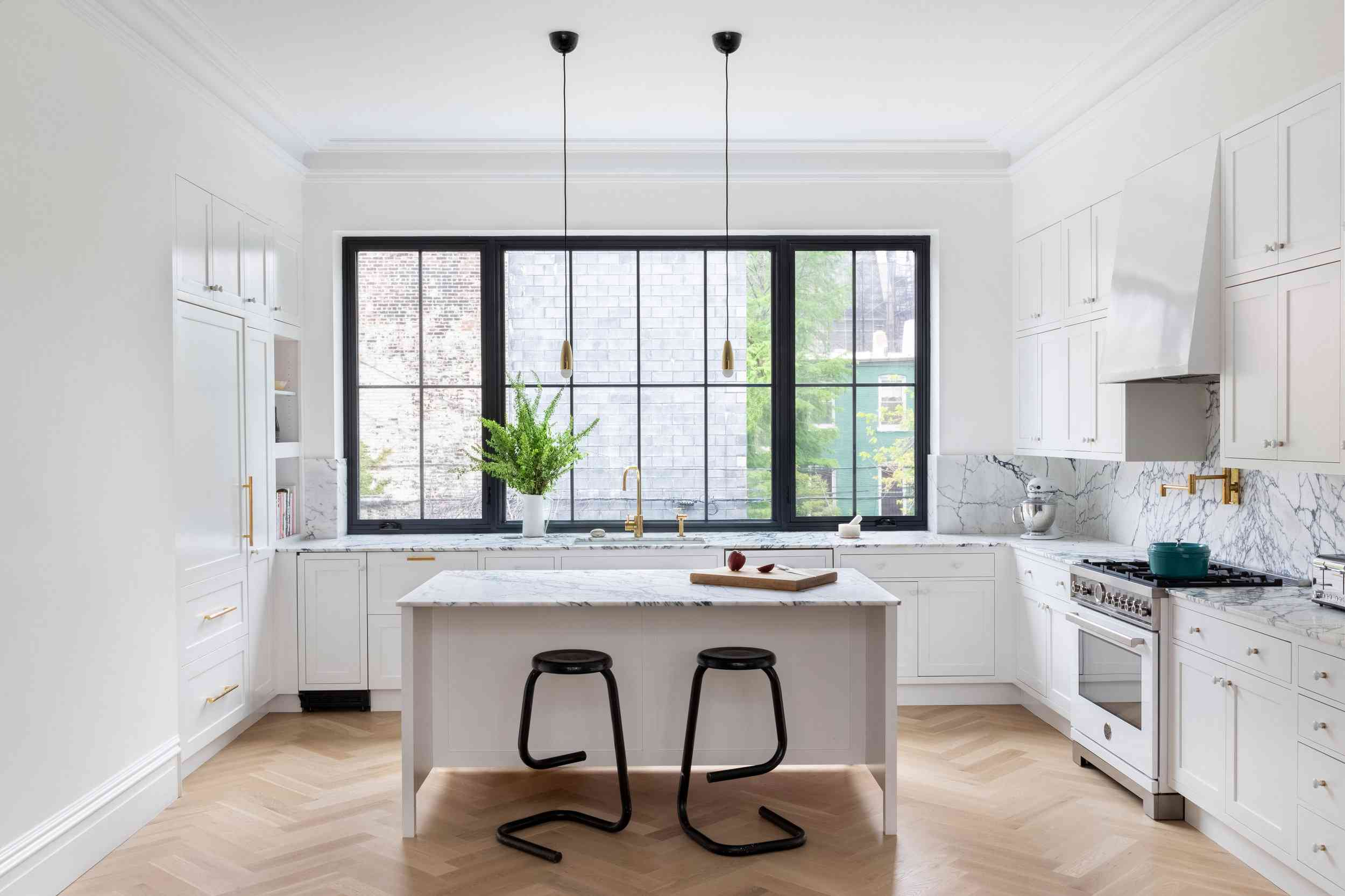 Classic white kitchen cabinetry