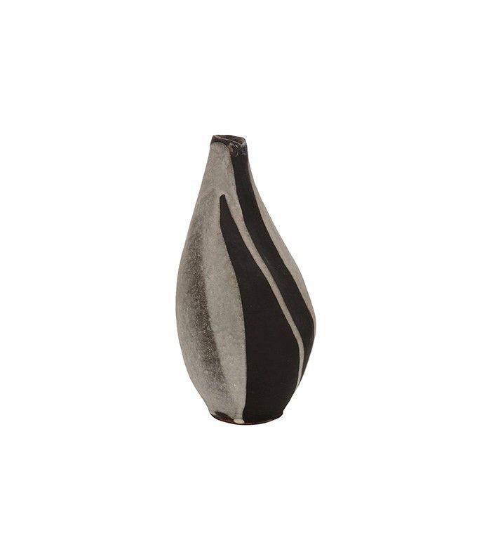 Vintage Black and White Ceramic Vase