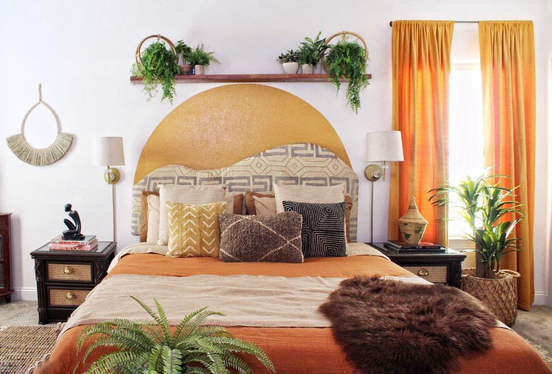 warm cozy boho bedroom