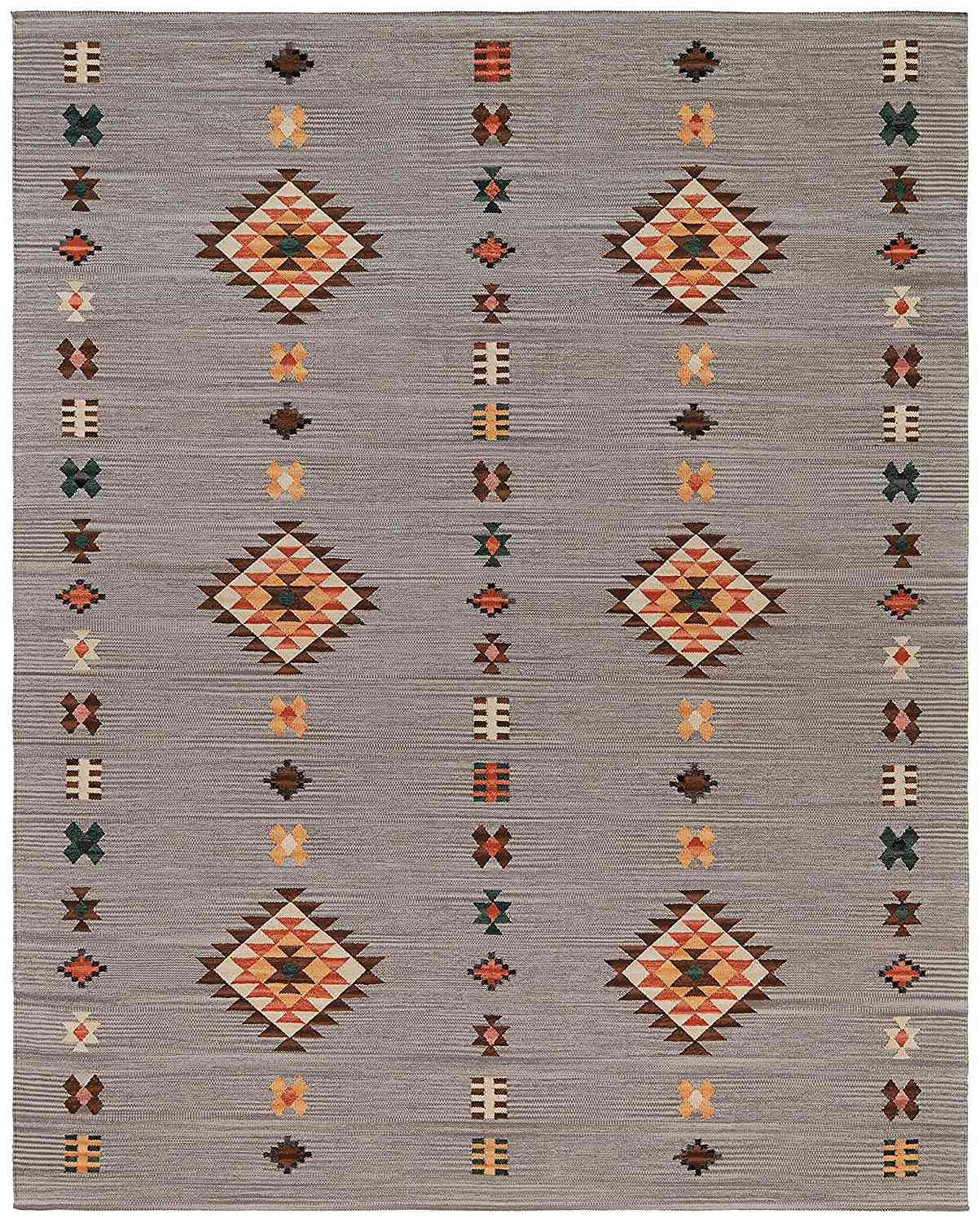 Casual Geometric Cotton Area Rug