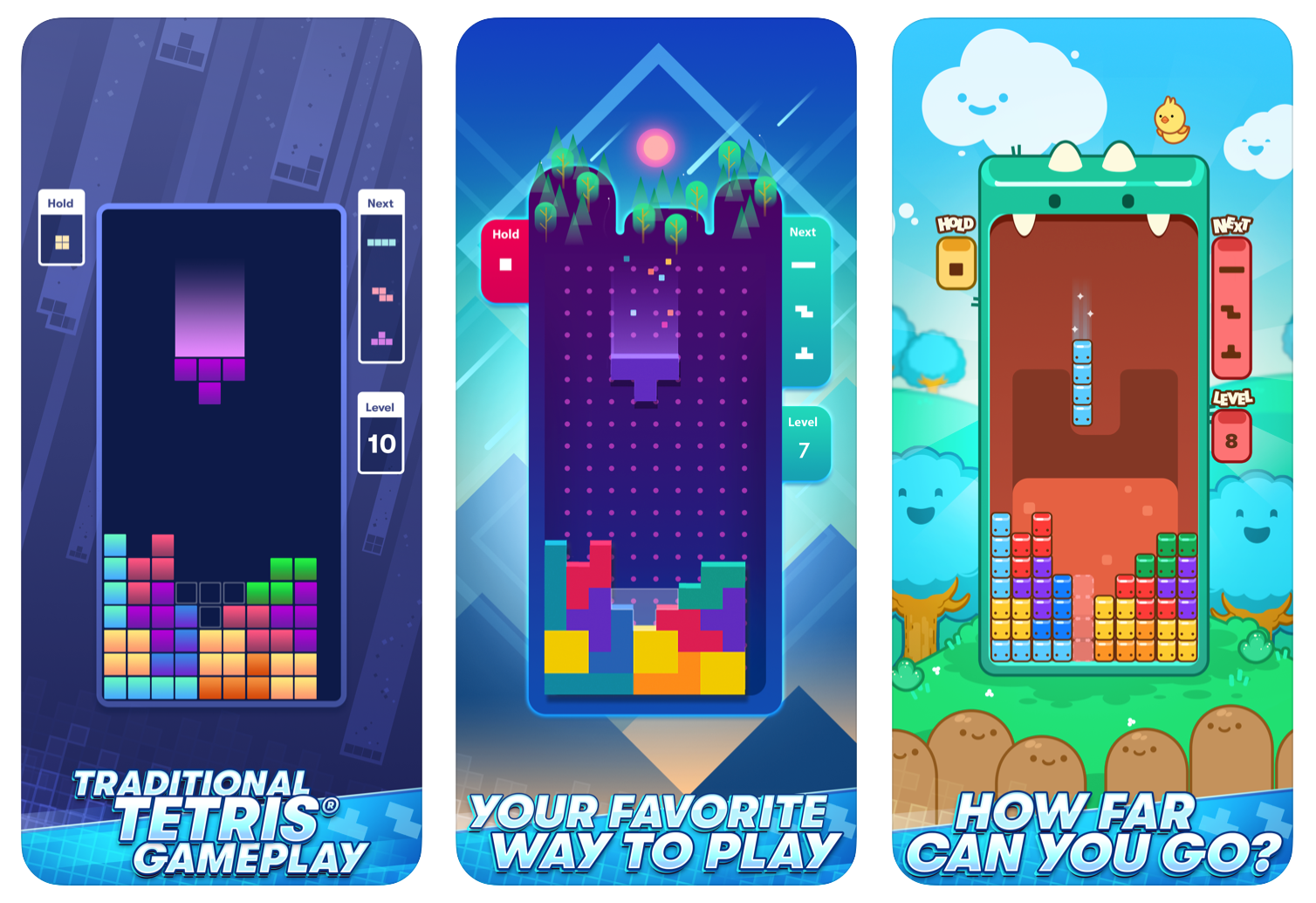Tetris phone app