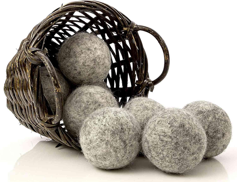 Kitchow Organic Dark Wool Dryer Balls