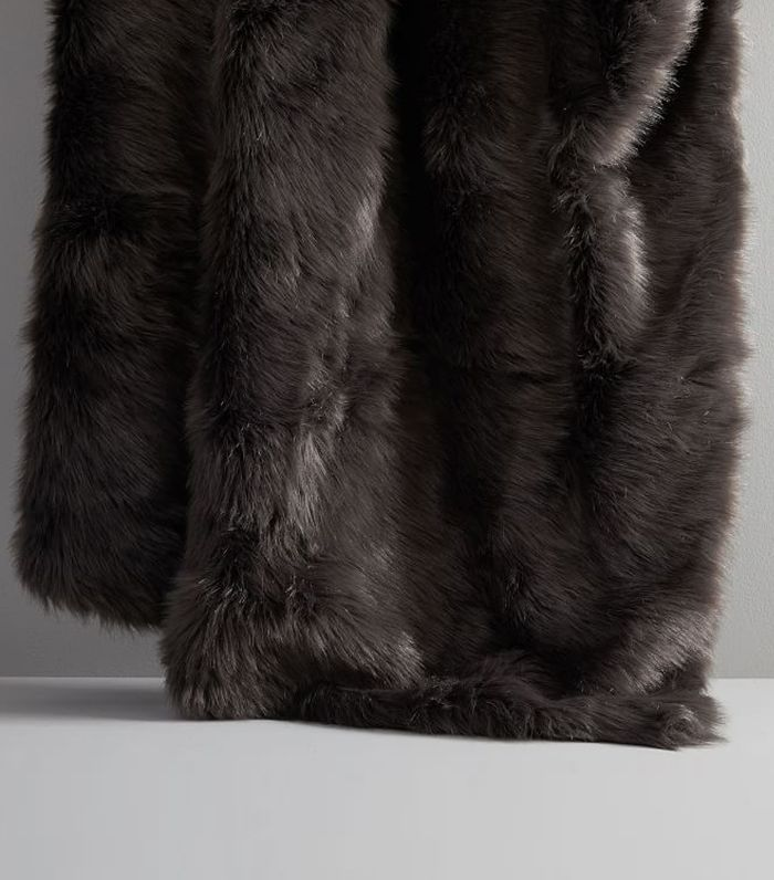 West Elm Mink Faux Fur Throws