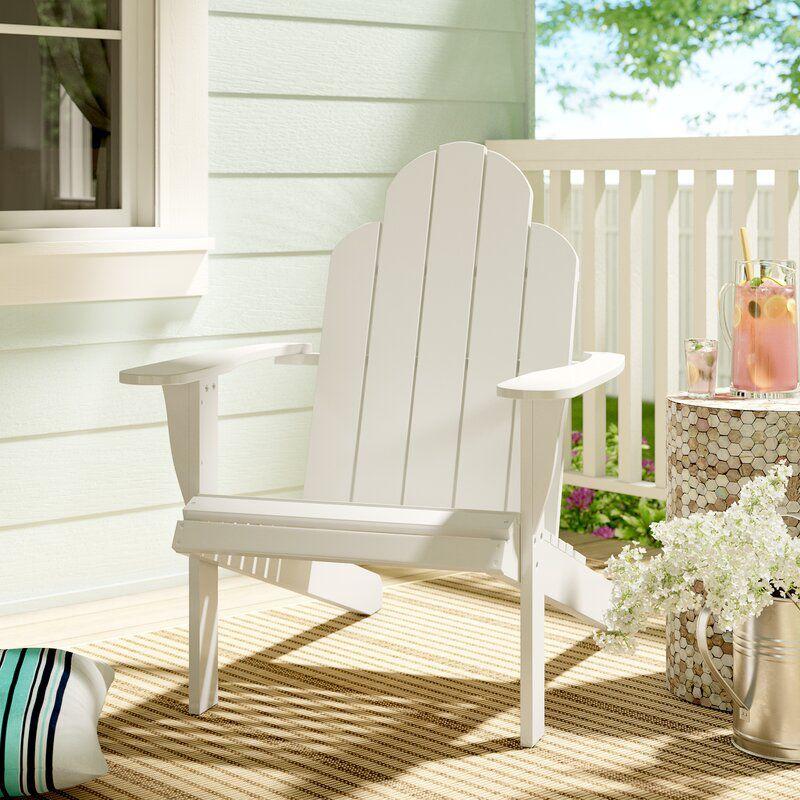White Selkirk Solid Wood Adirondack Chair