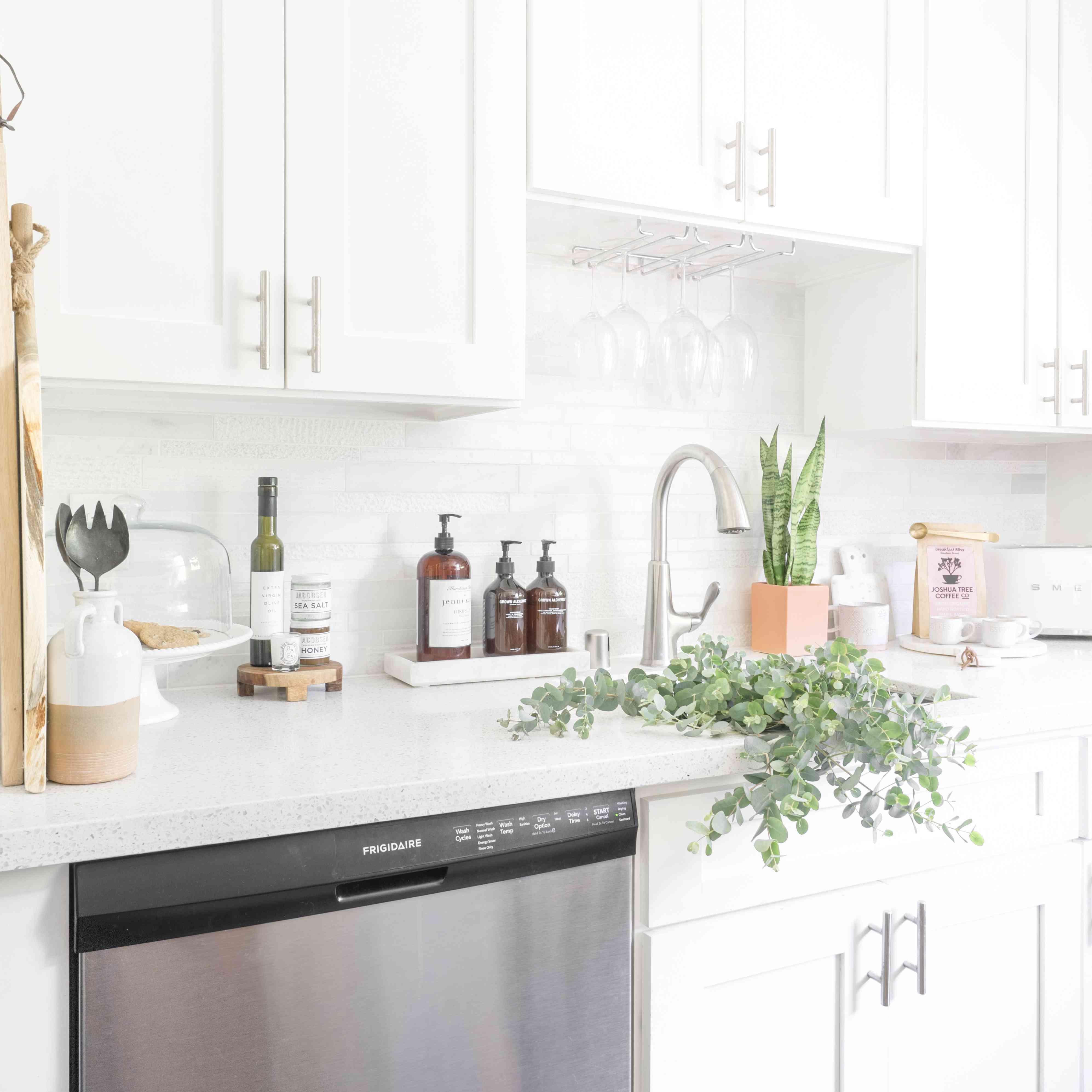 alisha agrellas home tour - cocina con plantas