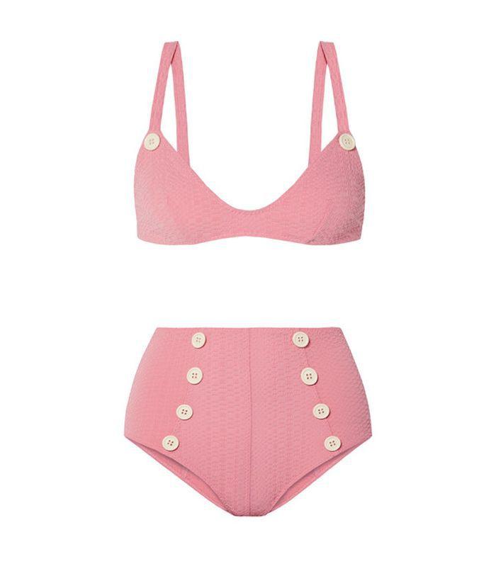 Magdalena Seersucker Bikini Briefs