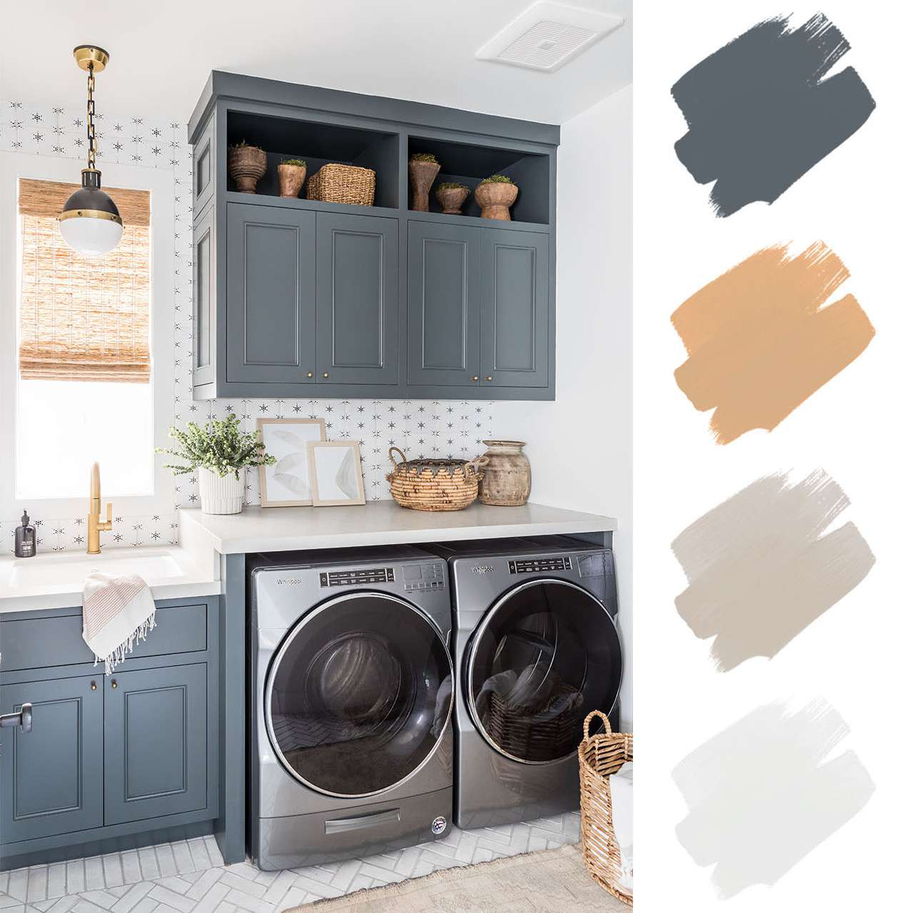best home color schemes - grey and wood and white