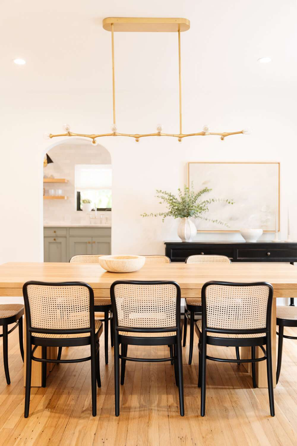 Light and airy dining room.