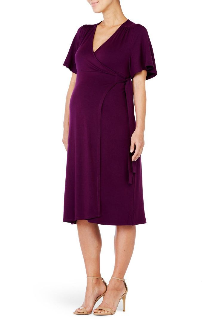Women's Ingrid & Isabel Flutter Sleeve Knit Wrap Maternity/nursing Dress Maternity Capsule Wardrobe