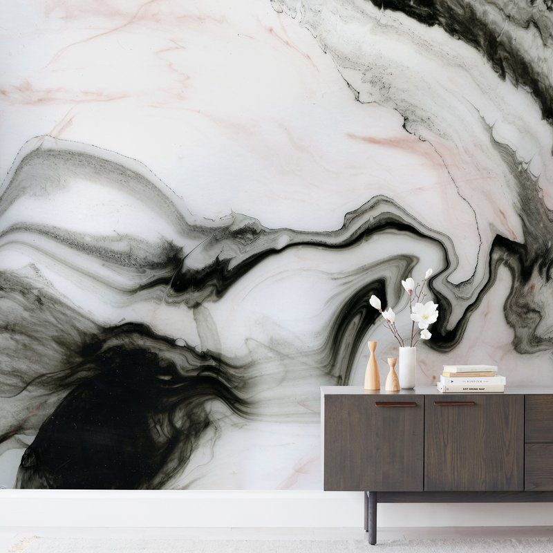 Minted. Mural In Etherial Marble - Minted.