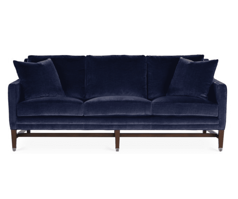 Arden Sofa from Michael Thomas Collection in Lapis Velvet
