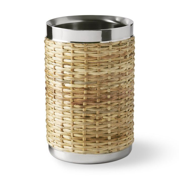 Woven and Silver Wine Chiller