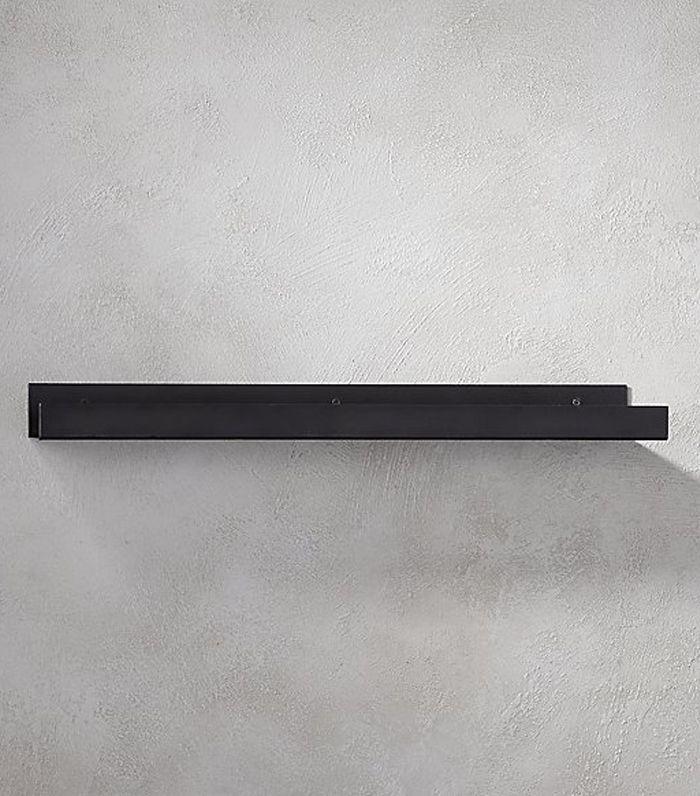 "CB2 Metal Gunmetal Wall Shelf 2"""