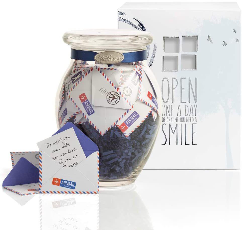 KindNotes Airmail Jar of Notes