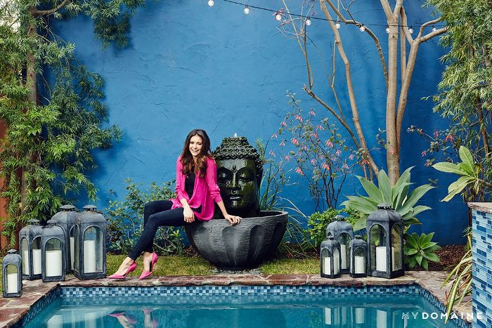 Nina Dobrev L.A. home tour   pool