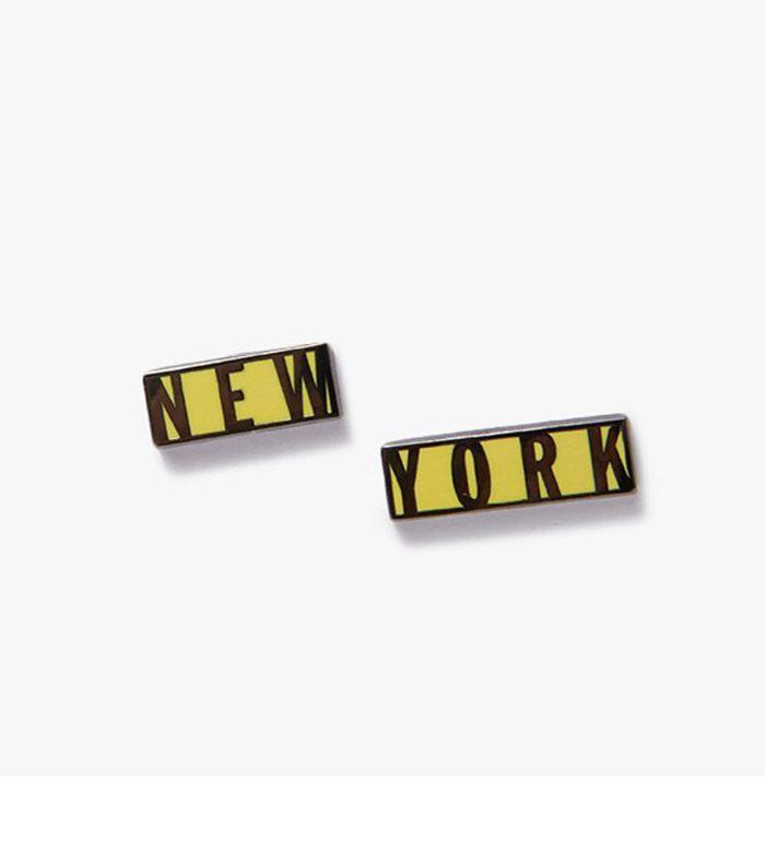 New York Pin Set in Black & Yellow