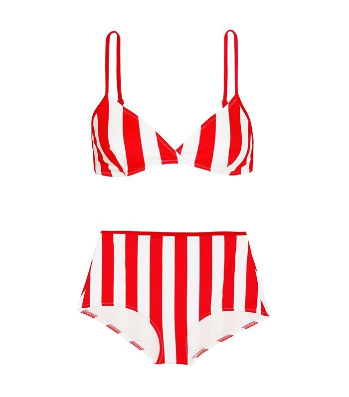 The Brigitte Striped Bikini