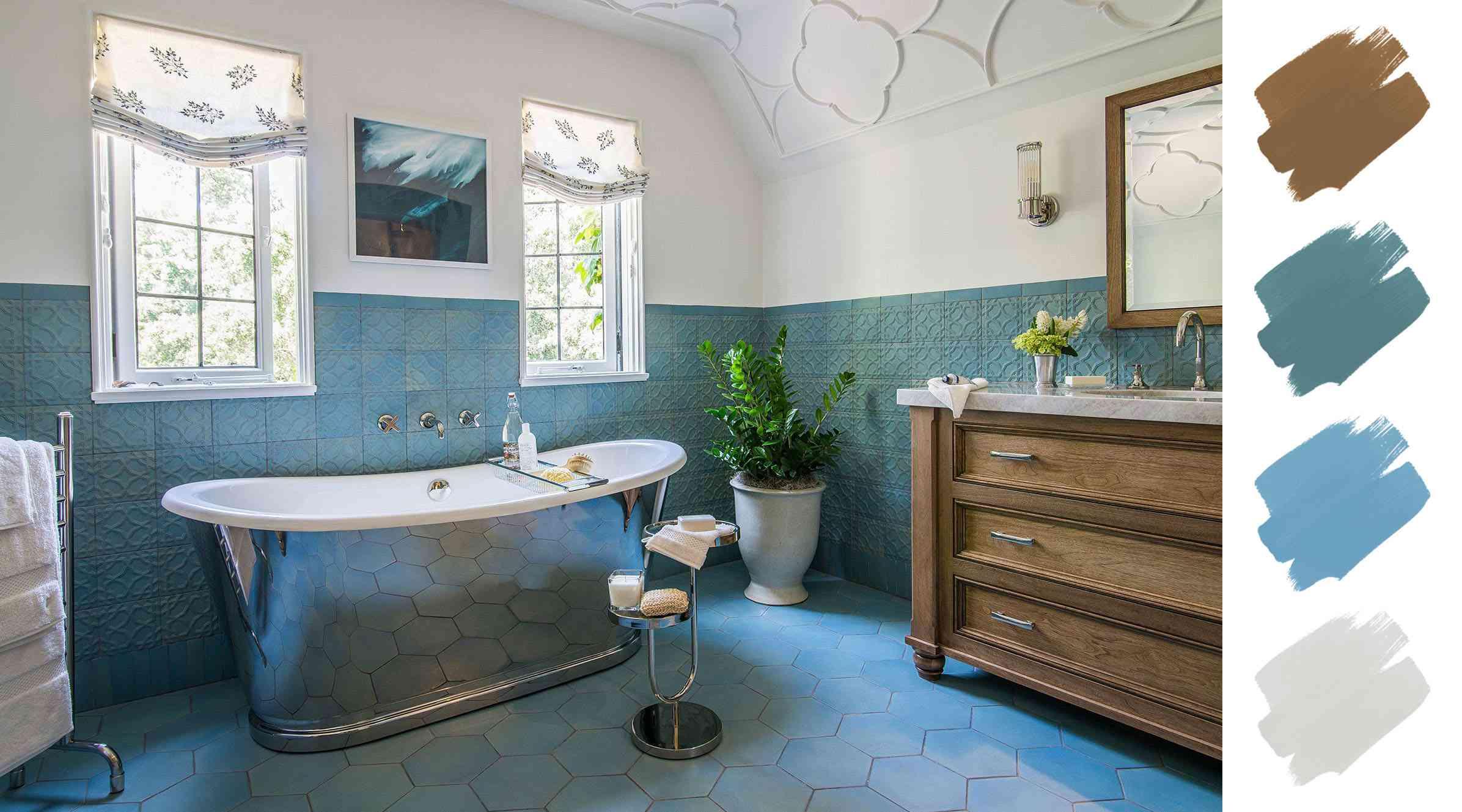 6 Beautiful Bathroom Color Schemes, Calming Colors For Bathroom