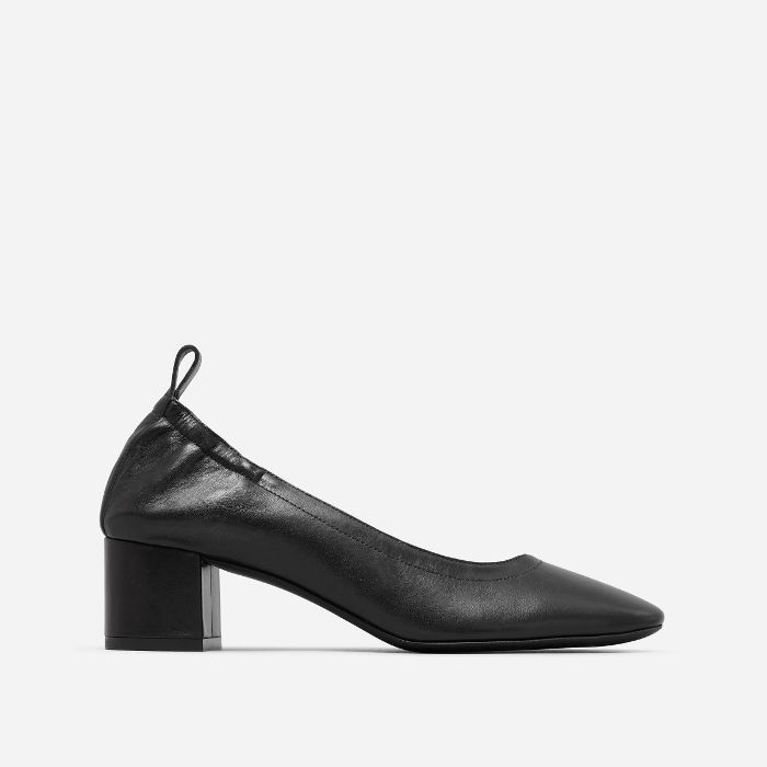 Women's Leather Block Heel Pump by Everlane in Black, Size 10