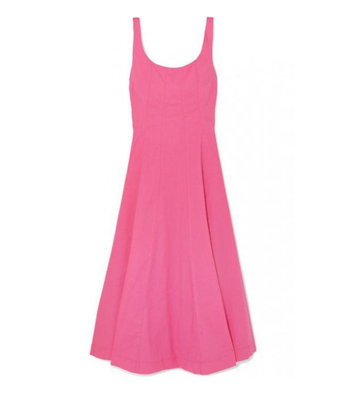 Wells cotton-blend dress