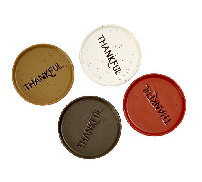 "Threshold ""Thankful"" Coasters"