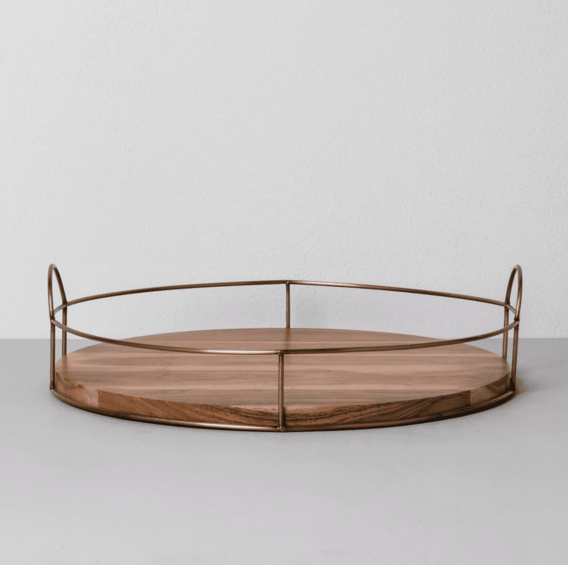 wood and wire tray hearth and hand with magnolia