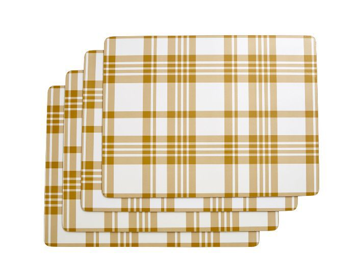 Threshold Plaid Cork Placemat