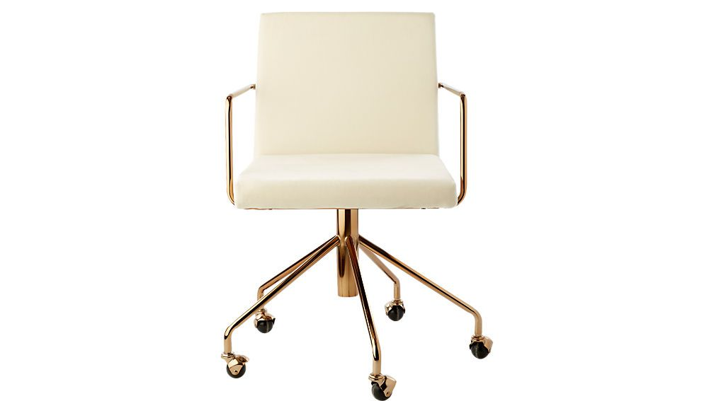 white office chair gold legs