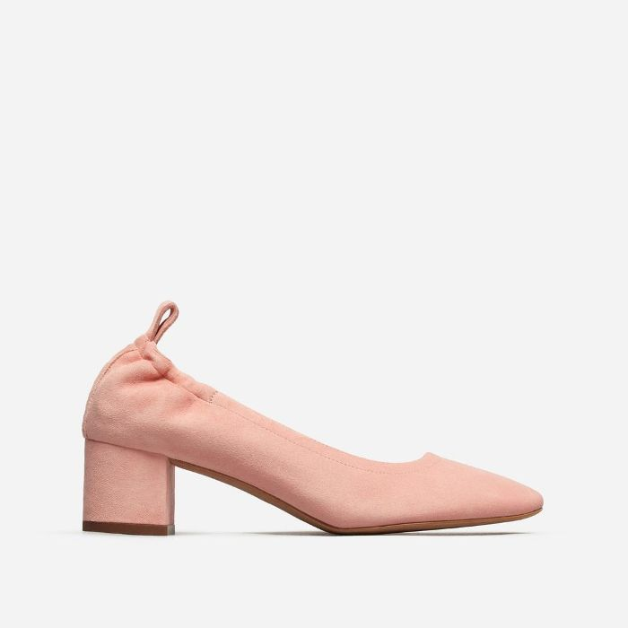 Women's Pump Heel by Everlane in Pink Suede, Size 11
