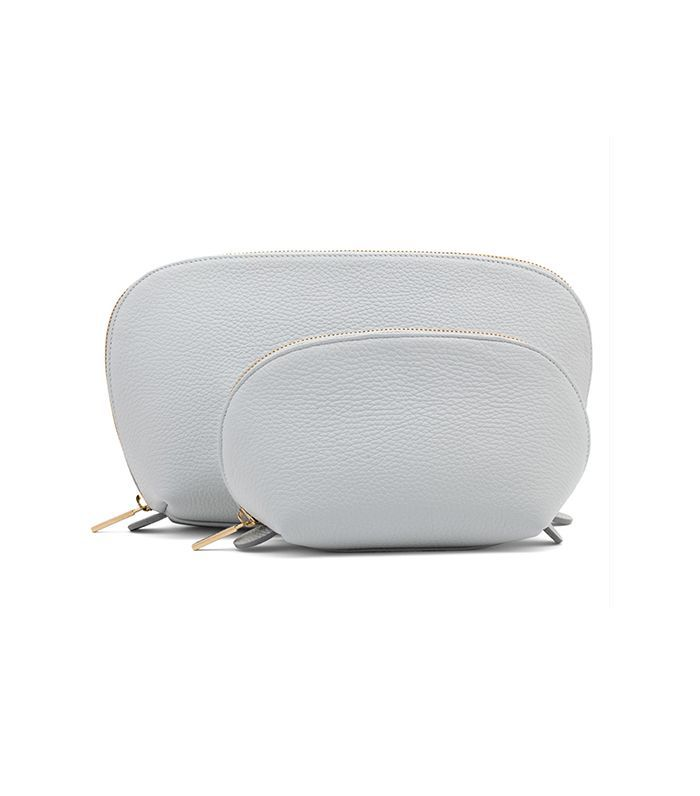 Cuyana Travel Case Set in Pearl Grey