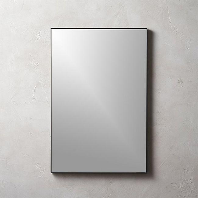 Infinity Black Rectangle Mirror