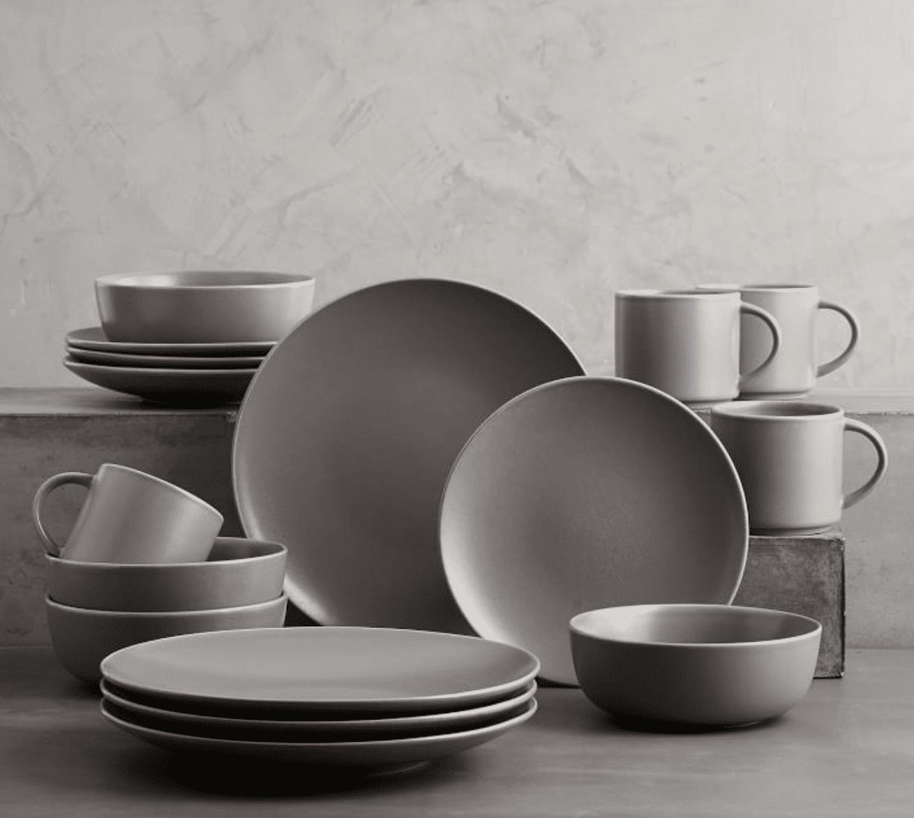 Mason Stoneware 16-Piece Dinnerware Set (Graphite Gray)