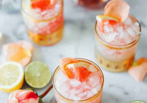 rose gold margaritas - how to make a margarita