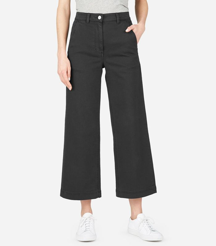 Women's Wide Leg Crop Pant by Everlane in Golden Yellow, Size 4