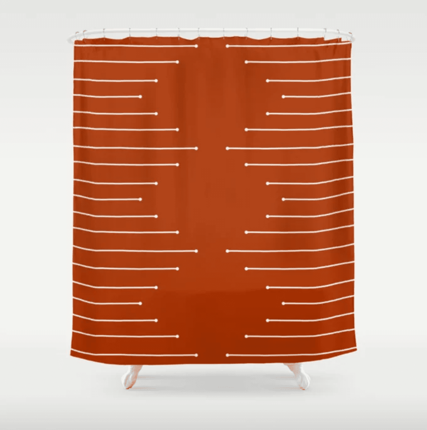 terracotta shower curtain