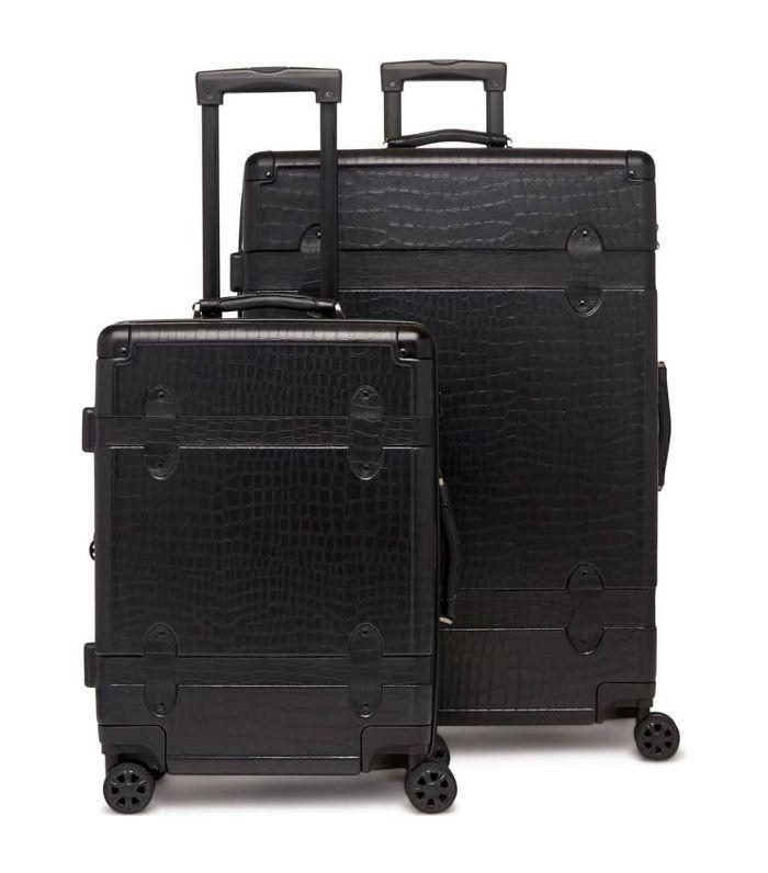 Calpak 20-Inch & 28-Inch Trunk Rolling Luggage Set in Black