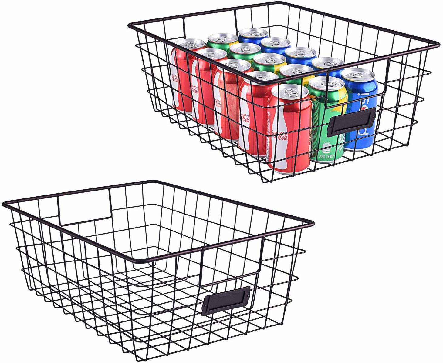 Wire Metal Baskets with Handles
