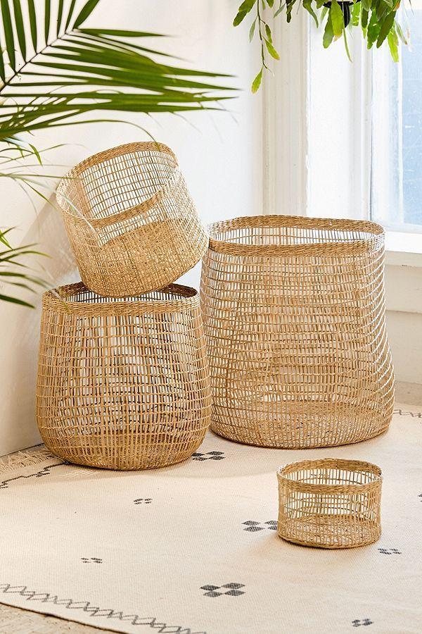 Woven Caged Storage Basket