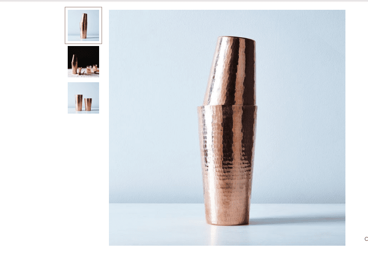 Hammered Copper Shaker