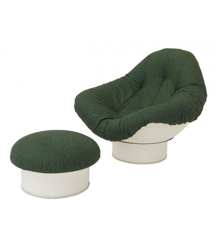 Jayson Home Vintage Pod Chair and Ottoman