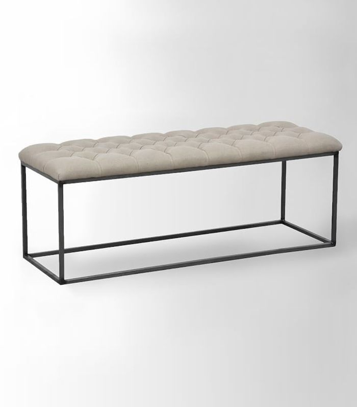 Tufted Bench - Stone Wash Granite